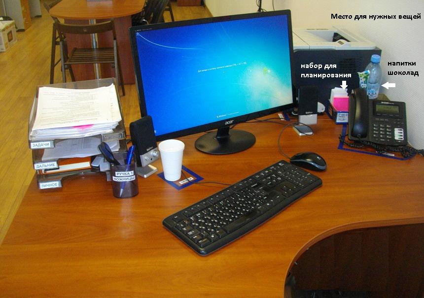Пример кайдзен 5s рабочее место в офисе