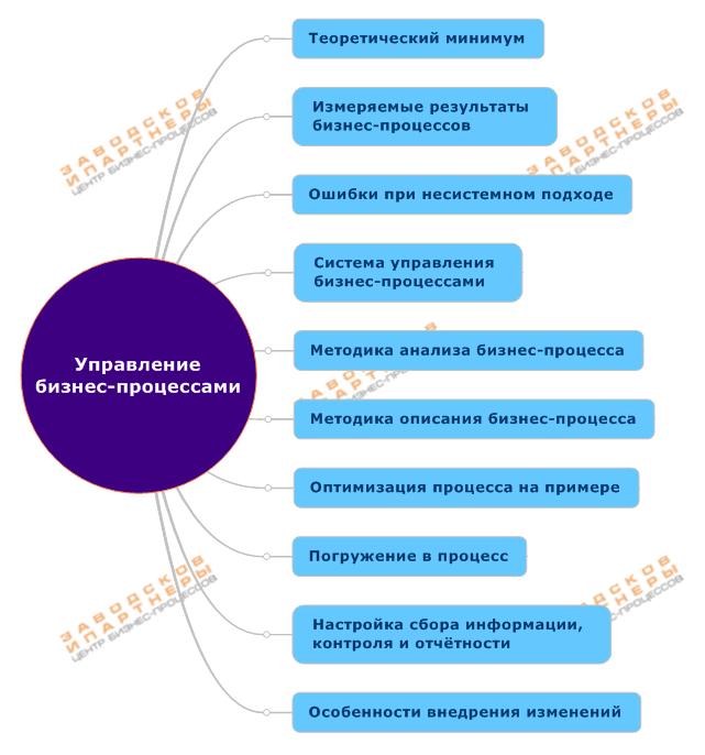Семинар практикум по управлению бизнес-процессами, программа